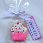 Love cupcake cookie, Size: 6.0 x 6.0cm