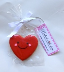 Love Heart cookie, Size: 7.0 x 6.5cm